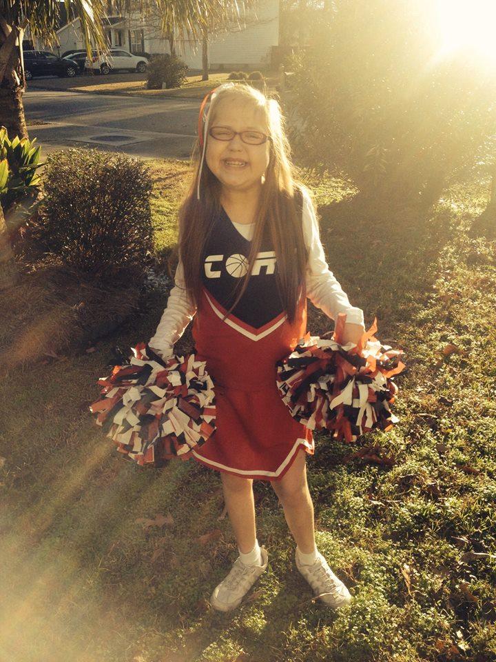 Getting ready to cheer for the Charleston Baptist Church Upward Sports League!