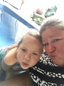 Kissy faces in the hot tub